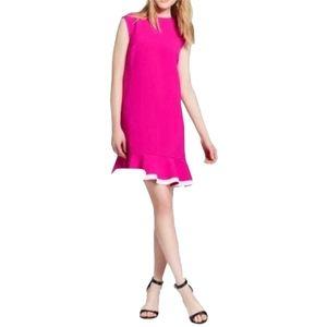 Victoria Beckham Pink Fuchsia Twill Ruffle hem 2x
